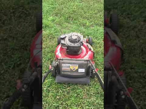My lawnmower after my boy put gas in the oil tank