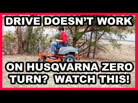 How to Replace the Drive Belt on Husqvarna Zero Turn Riding Lawn mower
