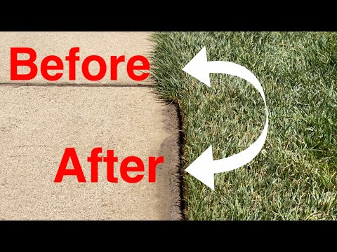 How To Have CLEAN and CRISP EDGING in a LAWN | CONCRETE and ASPHALT