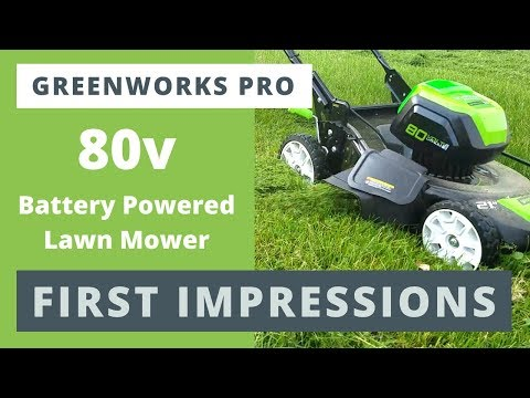 Greenworks Pro 80v Mower in HD - FIRST IMPRESSIONS Review - See it In Action Extreme Conditons