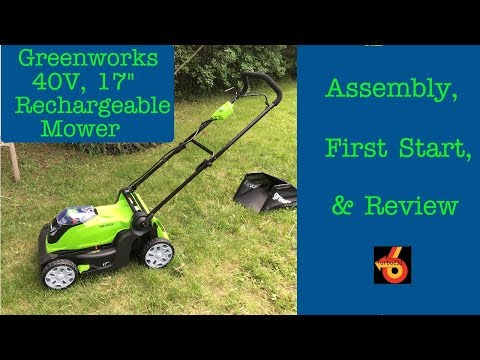 "Greenworks 40V Cordless 17"" mower Assembly, First run, and Review!"