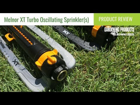 Melnor XT Turbo Oscillating Sprinkler with Flow Control Review | Gardening Products Review