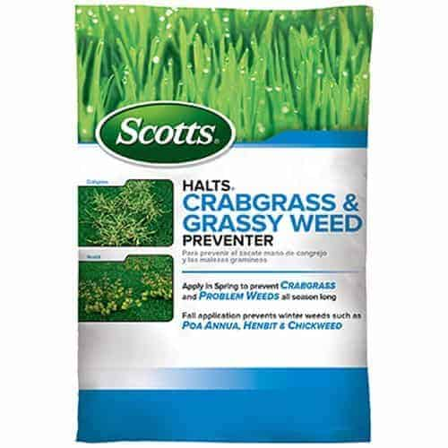 Best crabgrass preventer and killer - Scotts Halts Crabgrass & Grassy Weed Preventer