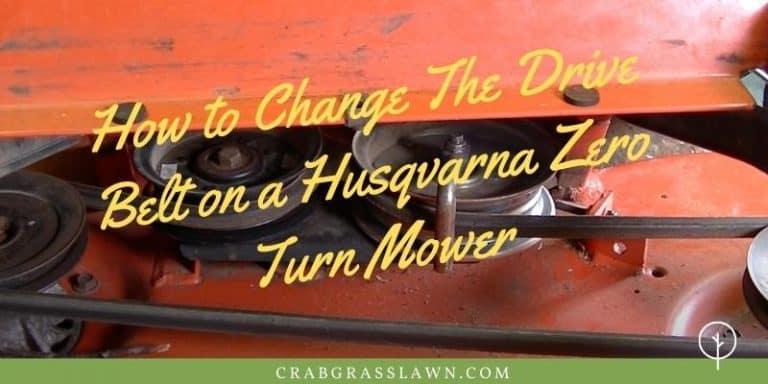 How to Change The Drive Belt on a Husqvarna Zero Turn Mower