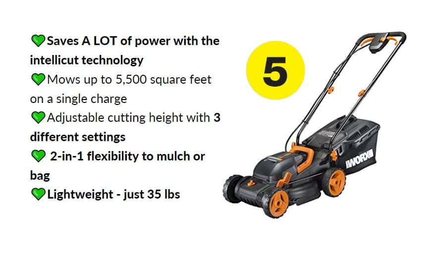 Best battery-powered lawn mowers under 300 WORX