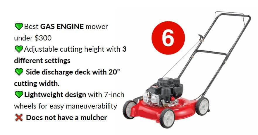 Best gas-powerd lawn mower under 300