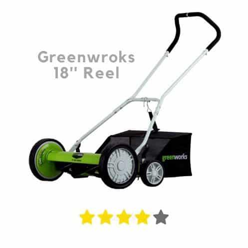 Greenwroks 18 inch reel mower for bermuda grass