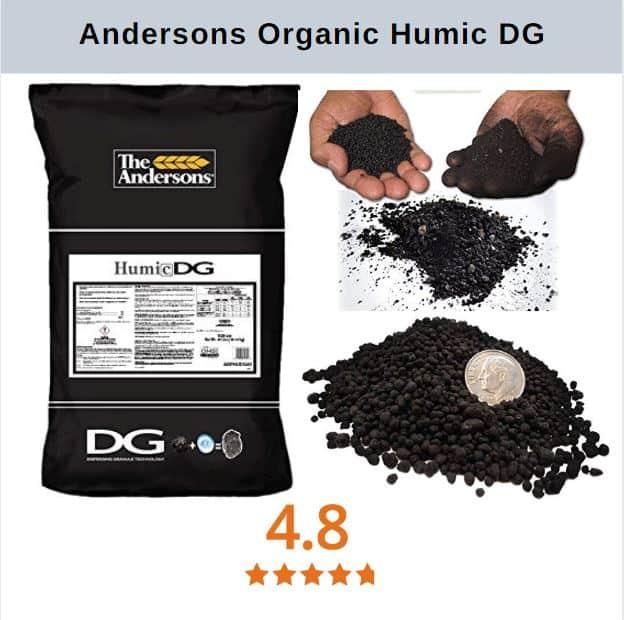 Milorganite alternatives The Andersons Organic Humic DG Granlar Soil Conditioner