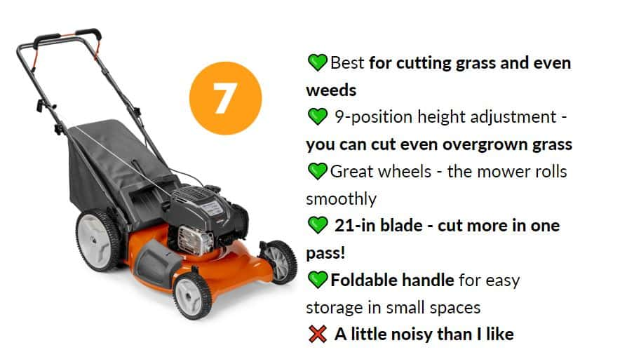 Best lawn mower under $300 with foldable handle
