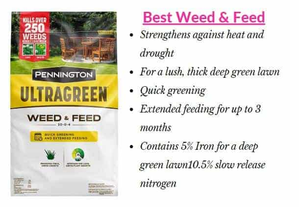 Pennington Weed and Feed Fertilizer for St. Augustine Grass-min