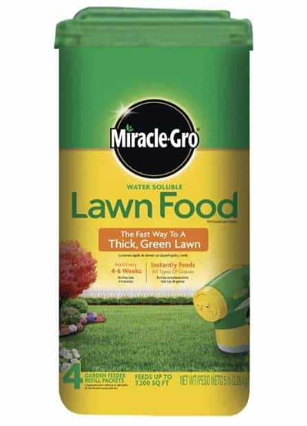 Miracle Gro lawn food best fertilizer for bermuda grass