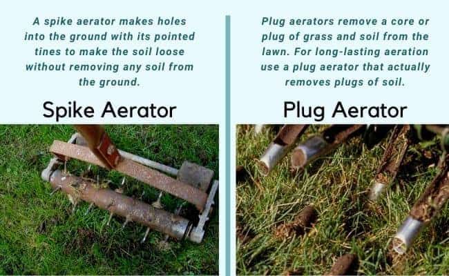 Spiek Aerator vs Plug Aerator-differences