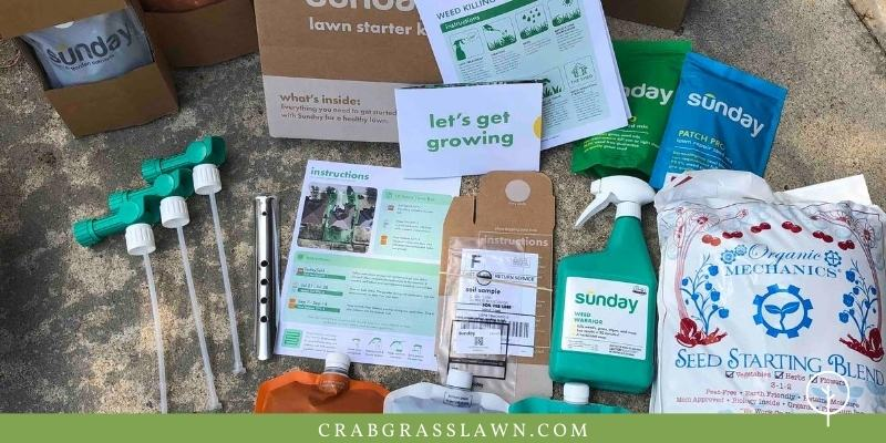 sunday lawn care contents in box