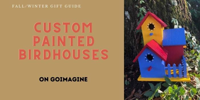 custom painted birdhouses for the backyard