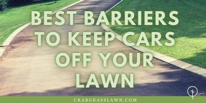 best barriers to keep cars off your lawn