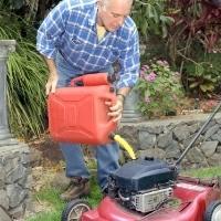 fill gas lawn mower